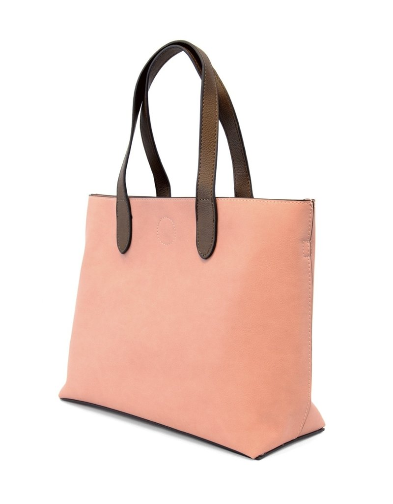 Joy Susan Pink Lemonade & Coffee Mariah Medium Convertible Tote