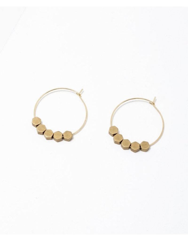 Larissa Loden Hexagon Greta Earrings