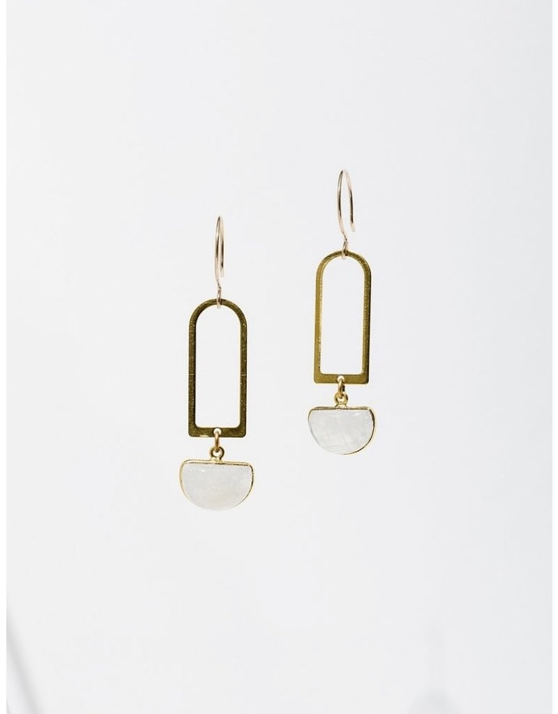 Larissa Loden Moonstone Casablanca Earrings