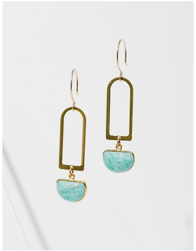 Larissa Loden Amazonite Casablanca Earrings