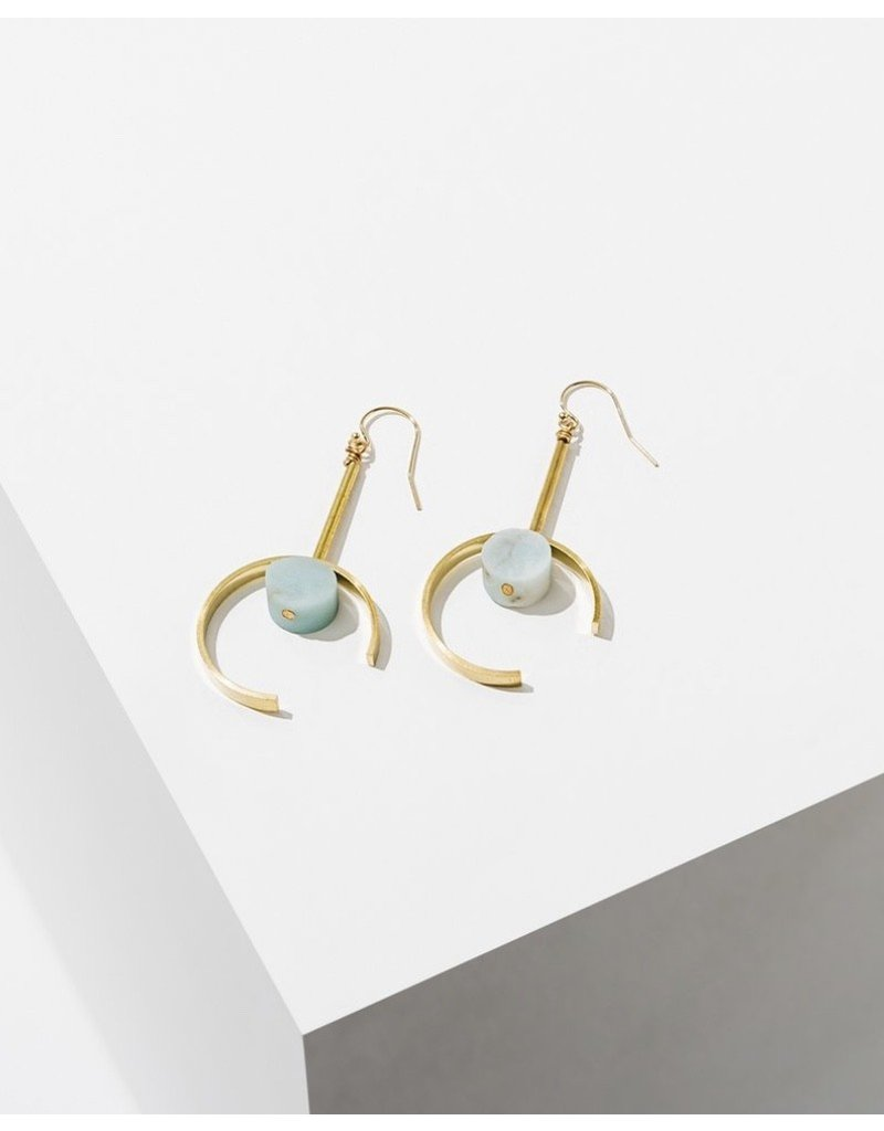 Larissa Loden Amazonite Santorini Earrings