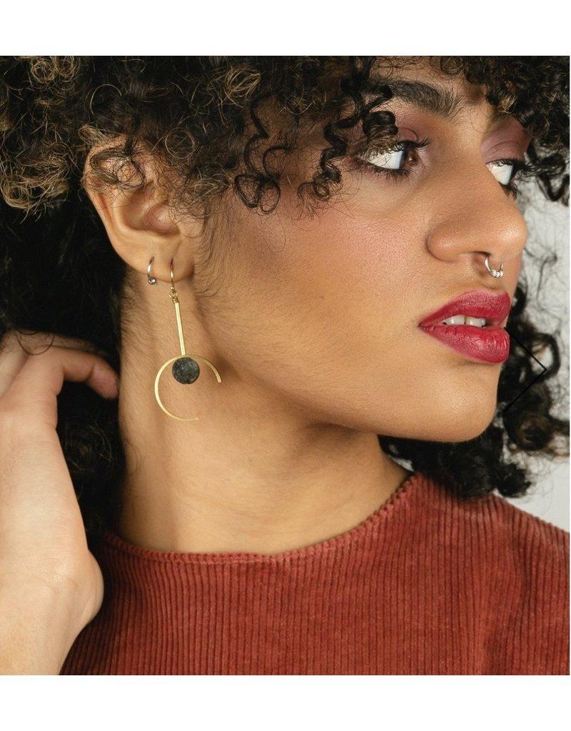 Larissa Loden Amethyst Santorini Earrings