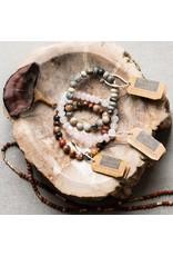Scout Petrified Wood Stone Bracelet