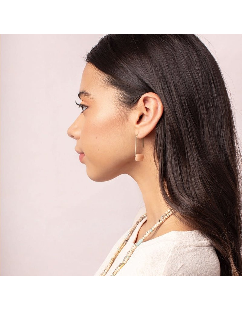 Scout Howlite Silver Floating Stone Earring