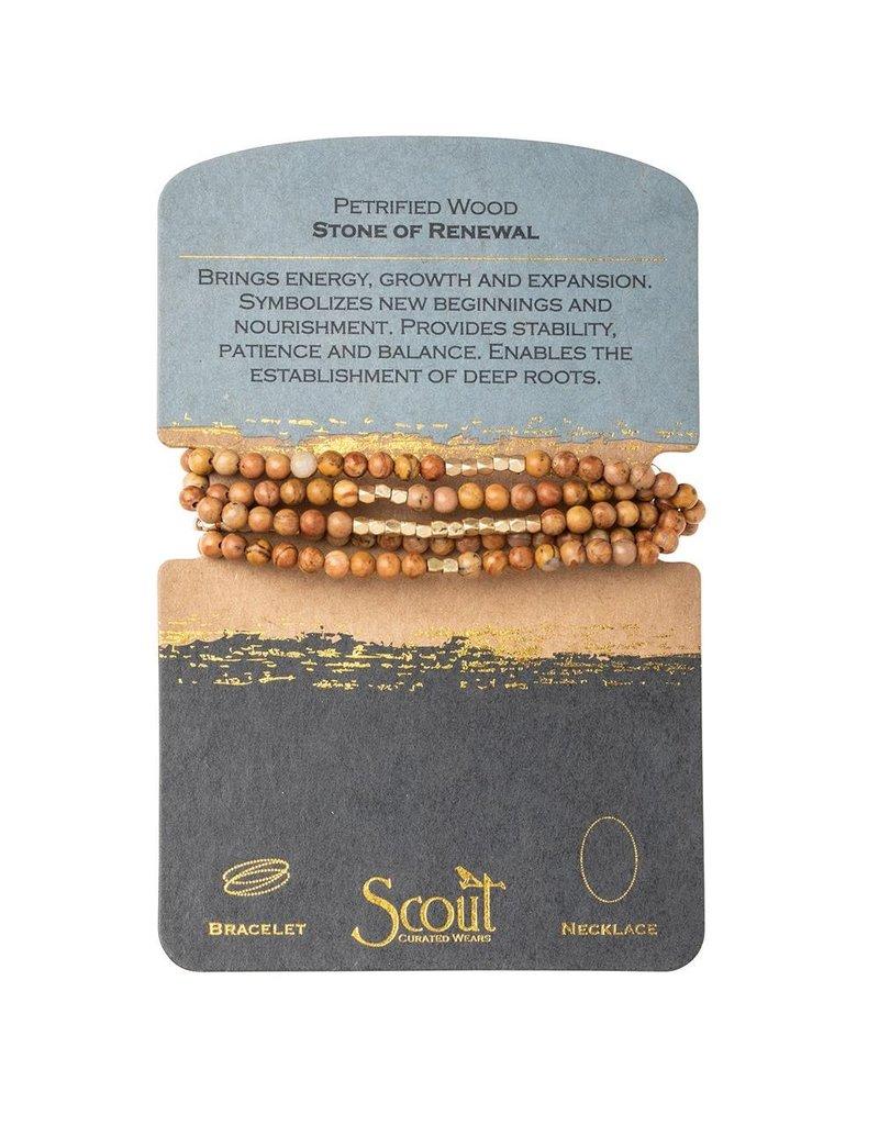 Scout Petrified Wood Stone Wrap