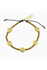 My Saint My Hero Gold Gratitude Crystal Bracelet