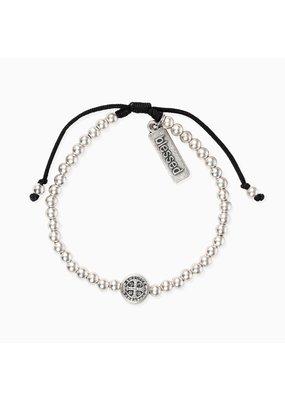 My Saint My Hero Silver Mantra Of Love Bracelet