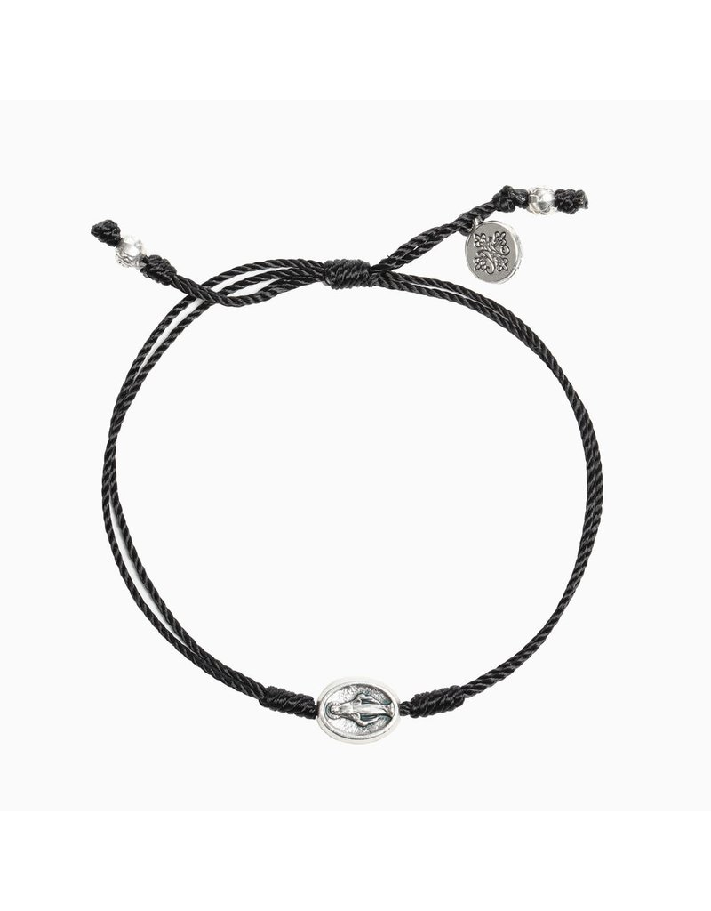 My Saint My Hero Black & Silver Say Yes Miraculous Mary Bracelet