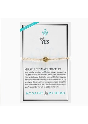 My Saint My Hero Metallic Gold Say Yes Miraculous Mary Bracelet