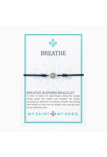 My Saint My Hero Navy & Silver Breathe Blessing Bracelet