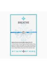 My Saint My Hero Blue & Silver Breathe Blessing Bracelet