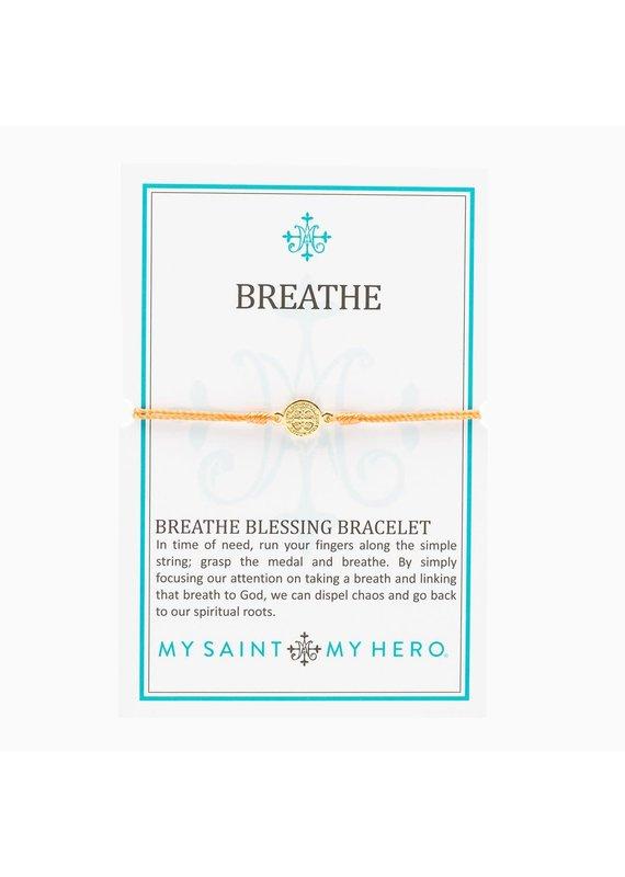 My Saint My Hero Orange & Gold Breathe Blessing Bracelet