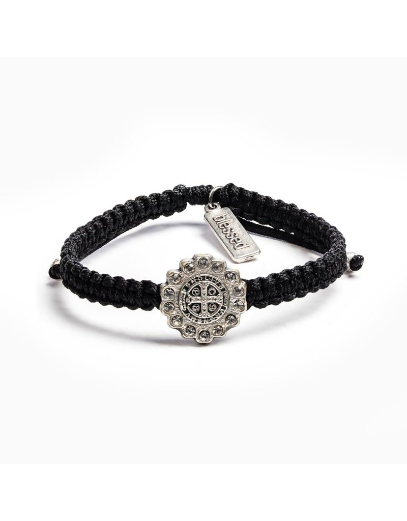 My Saint My Hero Black & Silver Brilliance Bracelet