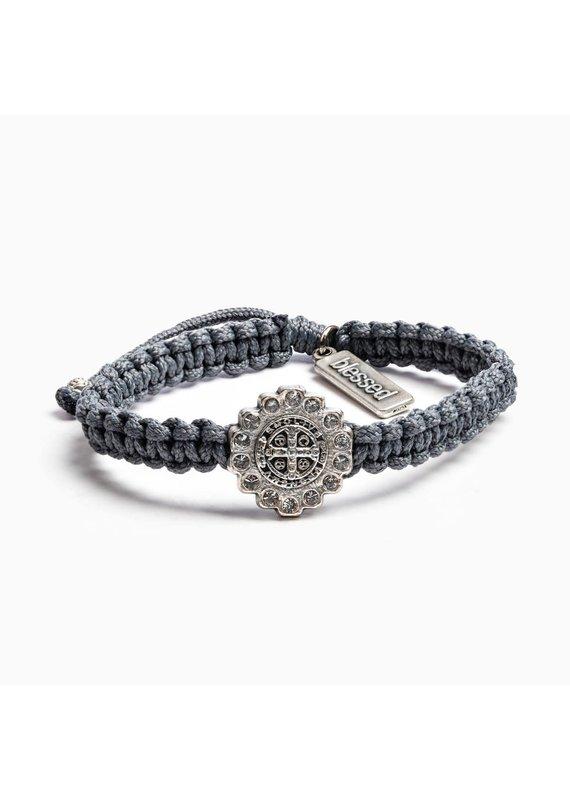 My Saint My Hero Slate & Silver Brilliance Bracelet