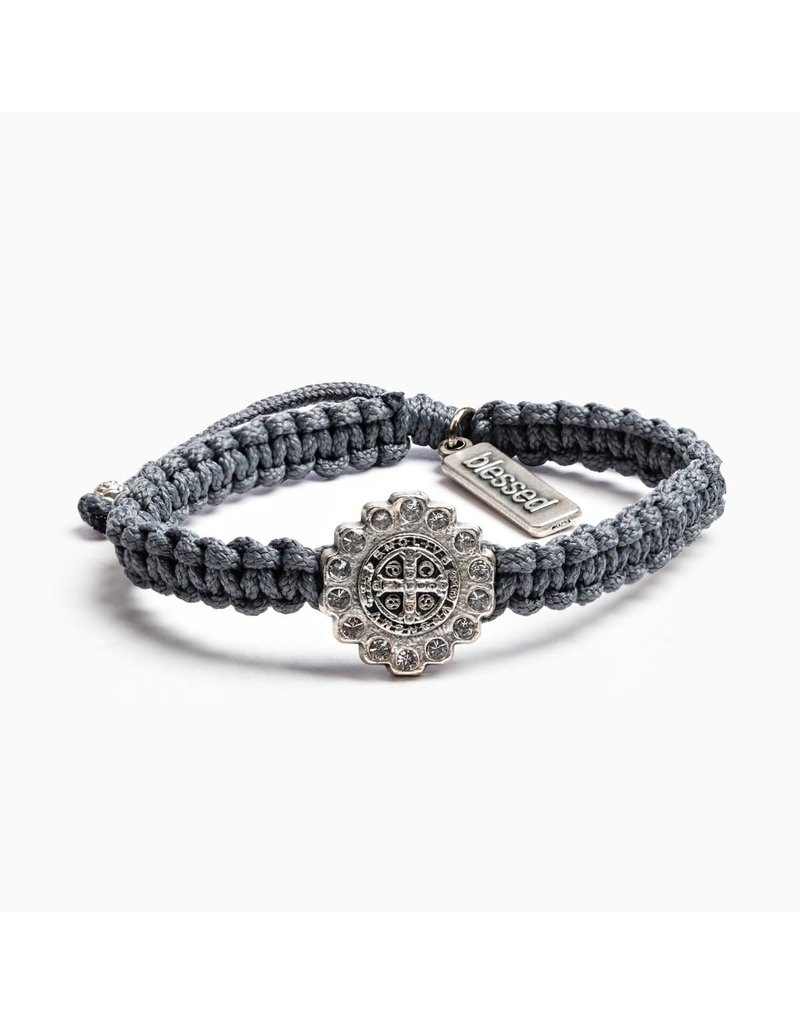 My Saint My Hero Slate & Silver Brilliance Bracelet
