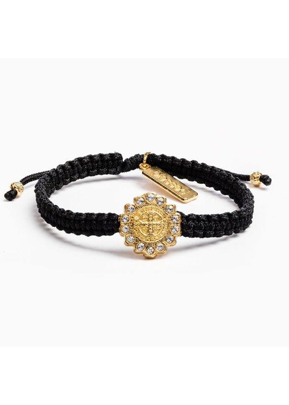 My Saint My Hero Black & Gold Brilliance Bracelet
