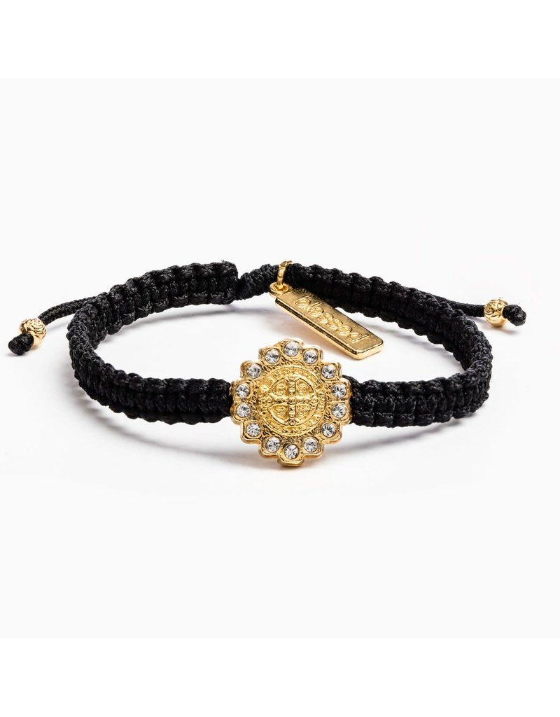 My Saint My Hero Black & Gold Brilliance Bracelet