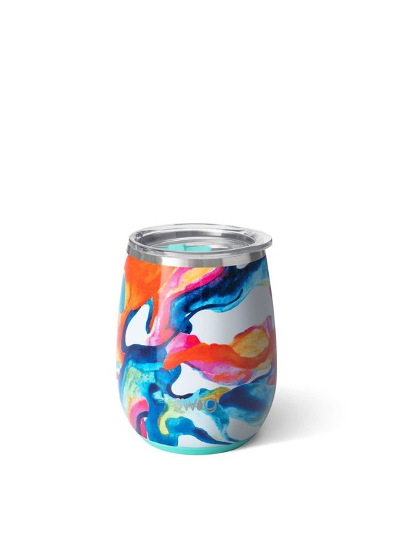 Swig Life Color Swirl Stemless Wine Cup 14oz