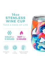Swig Life Color Swirl Stemless Wine Cup 14oz
