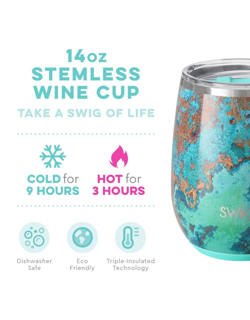 Swig Life Copper Patina Stemless Wine Cup 14oz