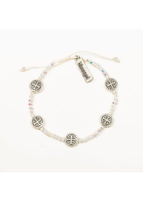 My Saint My Hero Silver & Crystal Gratitude Crystal Bracelet