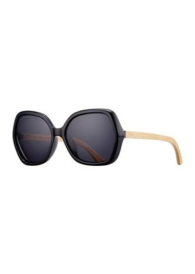 Blue Planet Ryli Onyx & Natural Bamboo w Smoke Polarized Lens