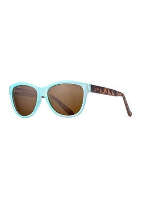 Blue Planet Jordyn Turquoise & Walnut Tortoise w Brown Polarized Lens