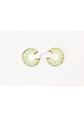 "Violet & Brooks Siena Petite 1.25"" Straw Yellow Hoops"