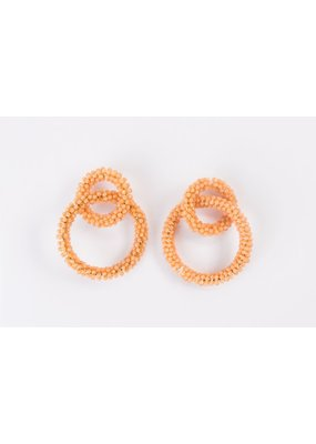 Violet & Brooks Brie Glass Peach Bead Earrings