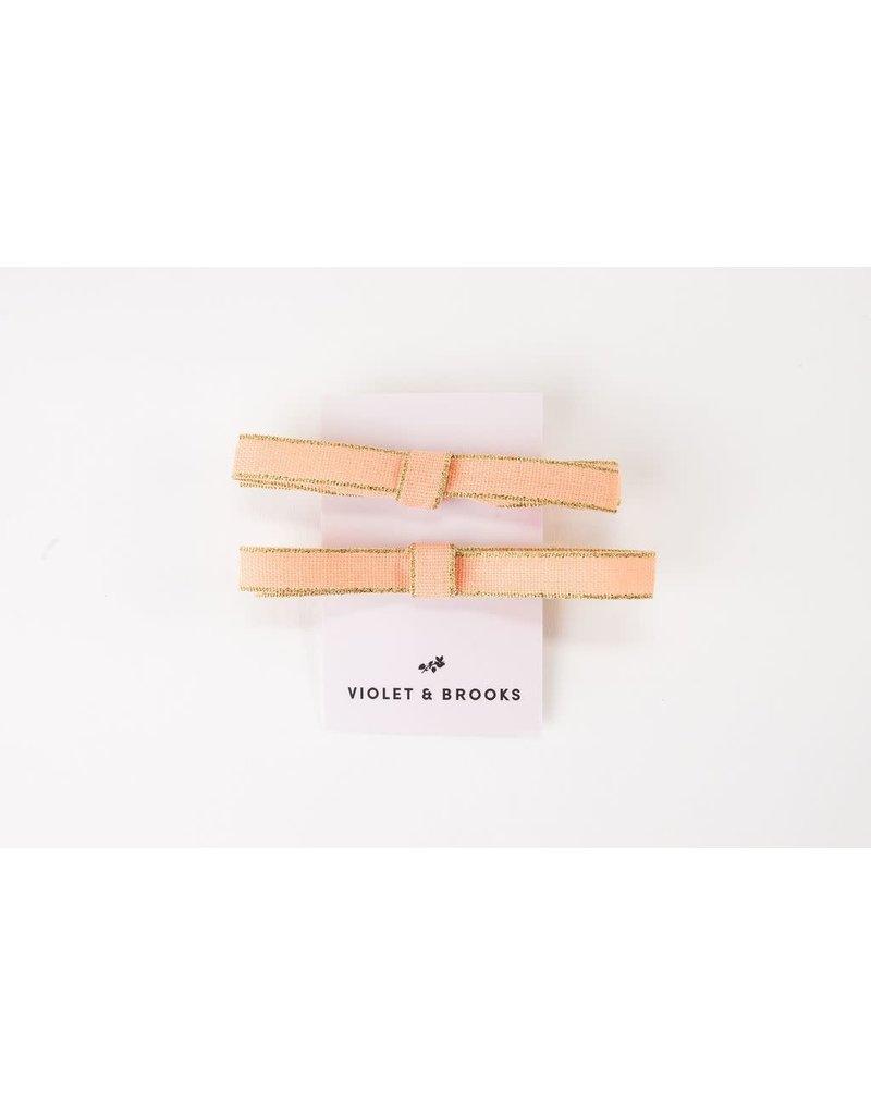 Violet & Brooks Shimmer Bow Clip Set Daisy