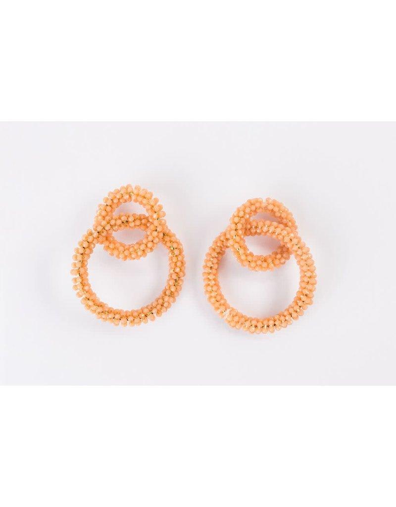 Violet & Brooks Brie Glass Peach Bead Earrings