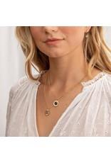 gorjana Power Black Onyx Gemstone Coin Protection Necklace