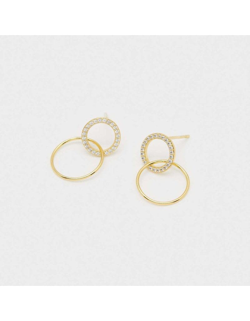 gorjana Balboa Shimmer Interlocking Studs