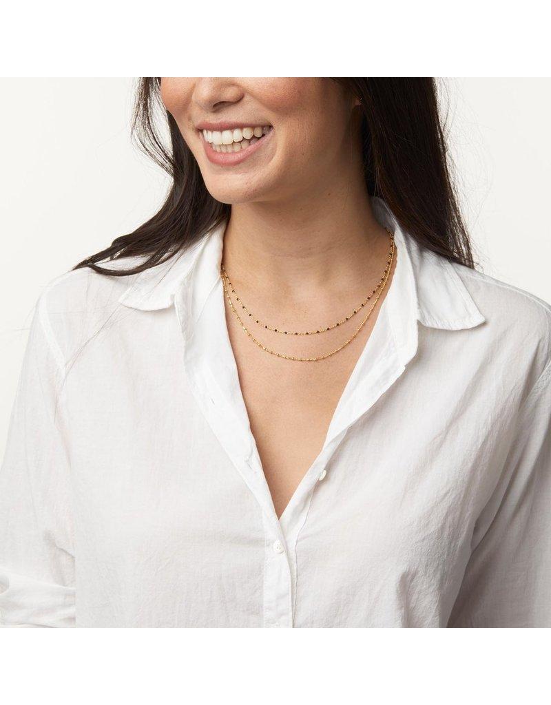 gorjana Capri Black Enamel Layered Necklace