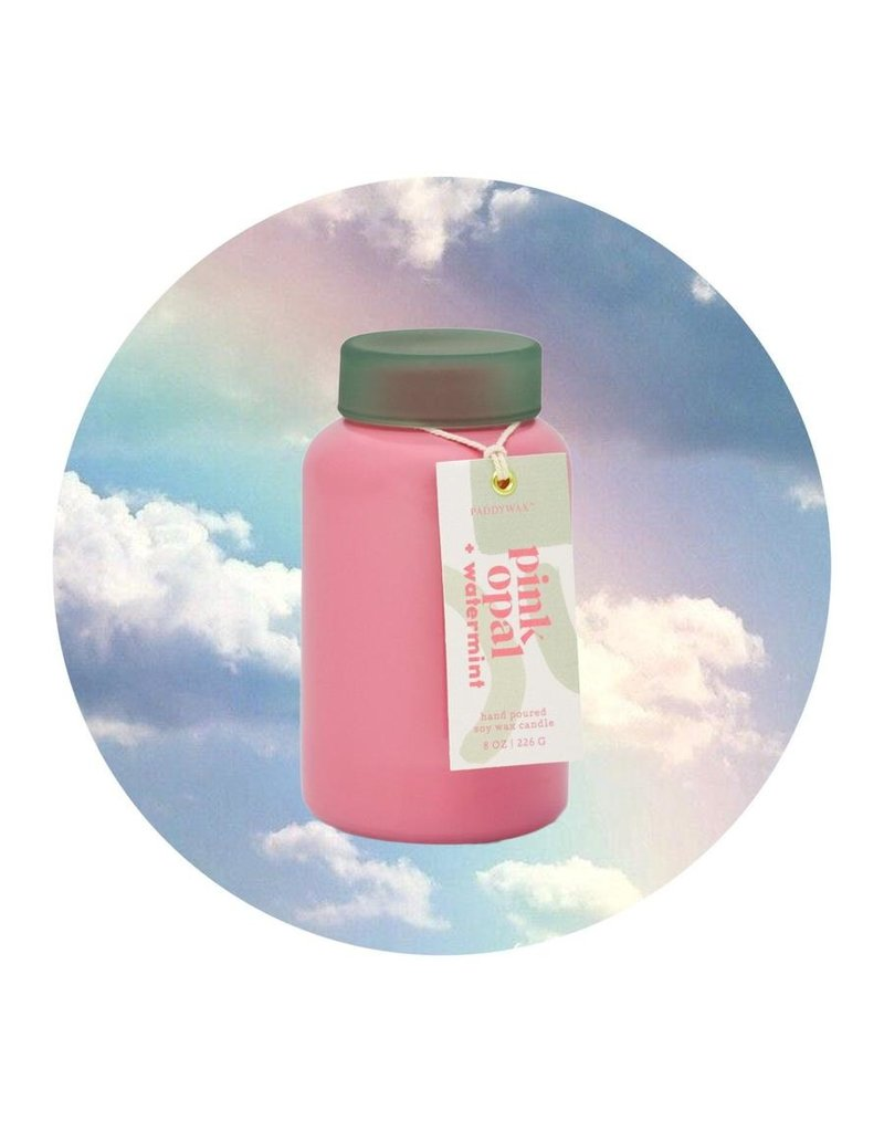 Paddywax Lolli Pink Opal + Watermint 8 oz Candle