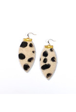 Cecelia Leopard Bar Leather Earrings