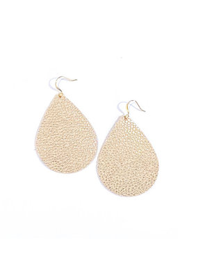 Cecelia Champagne Bubbles Leather Earrings