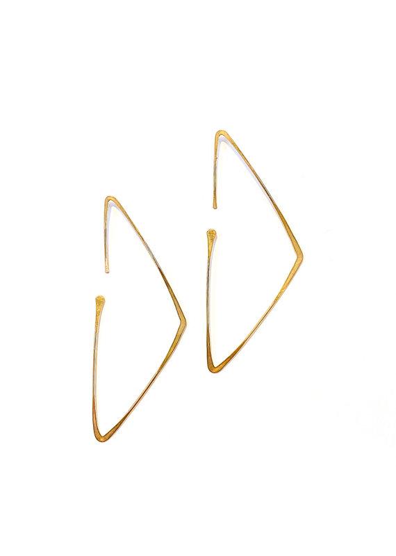 Linda Trent 14K Gold Filled Triangle Hoop Threader