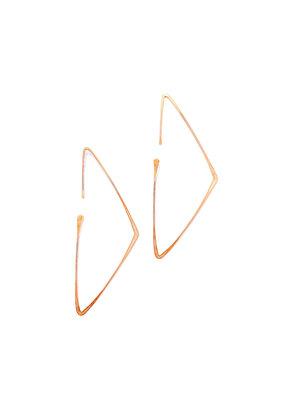 Linda Trent Rose Gold Filled Triangle Hoop Threader