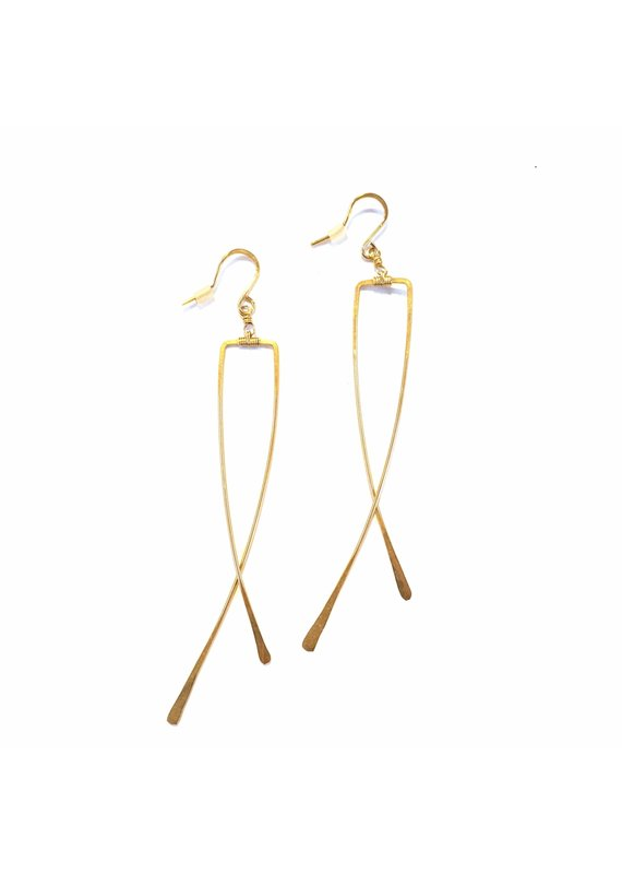 Linda Trent 14K Gold Filled Criss Cross Earrings