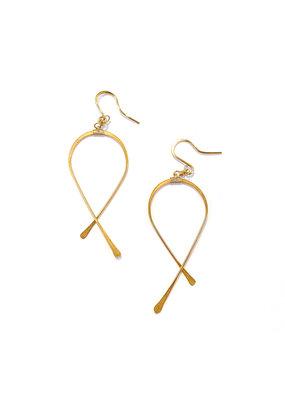 Linda Trent 14K Gold Filled Medium Criss Cross Earrings