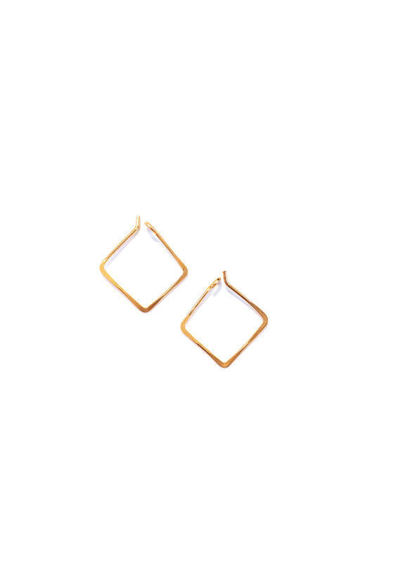 Linda Trent Rose Gold Filled Small Square Hoops