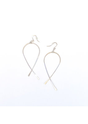 Linda Trent Sterling Silver Criss Cross Earrings