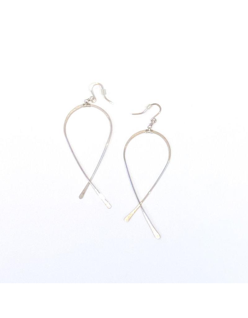 Linda Trent Sterling Silver Criss Cross Earrings