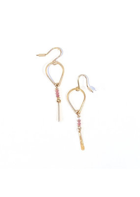 Linda Trent 14K Filled Pink Sapphire Teardrop Earring