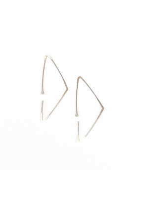 Linda Trent Sterling Silver Triangle Hoop Earrings