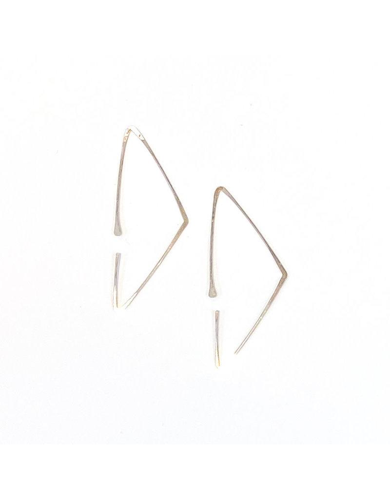 Linda Trent Sterling Silver Triangle Hoop Earrings