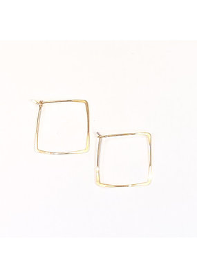 Linda Trent 14K Gold Filled Square Hoops