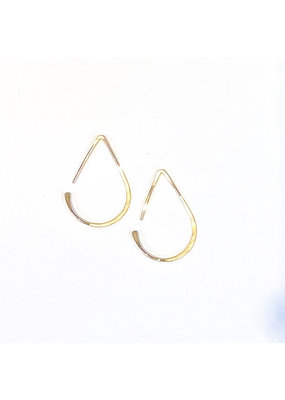 Linda Trent 14k Gold Small Teardrop Hoop Earrings