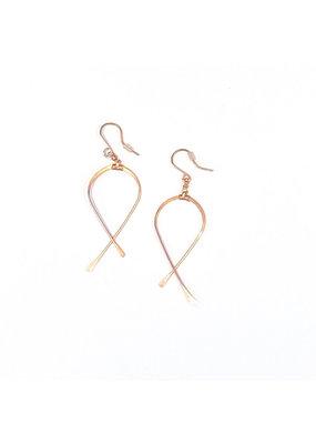 Linda Trent Rose Gold Filled Medium Criss Cross Earrings